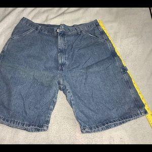 WRANGLER Mens Denim Jean Short Pants W 36 Used EUC
